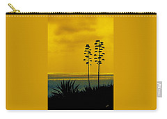 Ocean Sunset With Agave Silhouette Carry-all Pouch