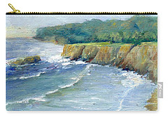 Ocean Surf Colorful Original Seascape Painting Carry-all Pouch