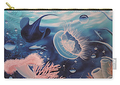 Carry-all Pouch featuring the painting Ocean Treasures by Dianna Lewis