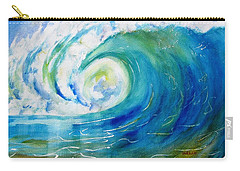 Ocean Wave Carry-all Pouch by Carlin Blahnik