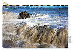 Ocean Waves Breaking Over The Rocks Photography Carry-all Pouch