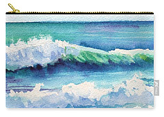 Carry-all Pouch featuring the painting Ocean Waves Of Kauai I by Marionette Taboniar