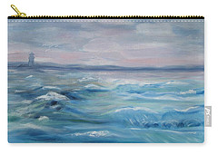 Carry-all Pouch featuring the painting Oceans Of Color by Diane Pape