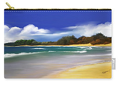Carry-all Pouch featuring the digital art Oceanside Dream by Anthony Fishburne