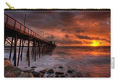 Oceanside Pier Perfect Sunset -ex-lrg Wide Screen Carry-all Pouch