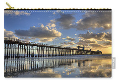 Oceanside Pier Sunset Reflection Carry-all Pouch