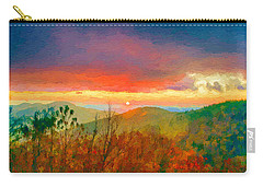 October Sunrise Painting On The Blue Ridge Parkway Carry-all Pouch