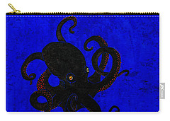 Octopus Black And Blue Carry-all Pouch