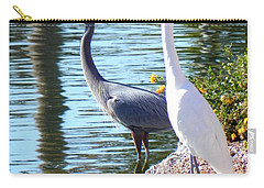 Carry-all Pouch featuring the photograph Odd Couple by Deb Halloran