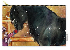 Of Girls And Horses Sold Carry-all Pouch by Lil Taylor