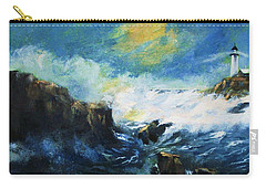 Off Shore Breakers At Dusk Carry-all Pouch