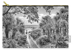Carry-all Pouch featuring the photograph Off To The Beach by Howard Salmon