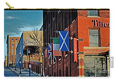 Off To The Tilted Kilt Carry-all Pouch by Luther Fine Art