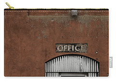 Carry-all Pouch featuring the photograph Office Door - Architecture by Steven Milner
