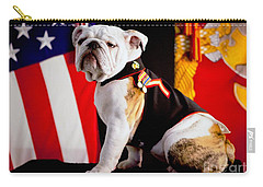 Official Mascot Of The Marine Corps Carry-all Pouch by Pg Reproductions