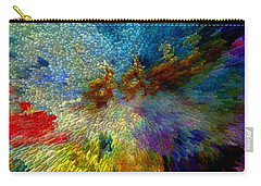 Carry-all Pouch featuring the painting Oh The Joys Of Santa's Toys by Lisa Kaiser