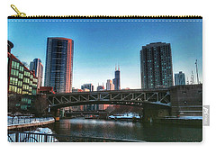 Ohio Street Bridge Over Chicago River Carry-all Pouch