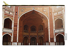 Oil Painting - Cross Section Of Humayun Tomb Carry-all Pouch by Ashish Agarwal