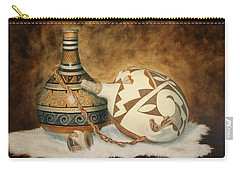 Oil Painting - Indian Pots Carry-all Pouch