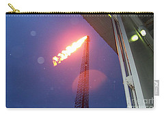 Carry-all Pouch featuring the photograph Oil Platform Flare Boom During Hurricane Cindy Off The Coast Of Louisiana In The Gulf Of Mexico by Michael Hoard