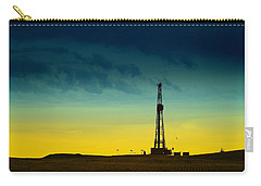 Oil Rig In The Spring Carry-all Pouch by Jeff Swan