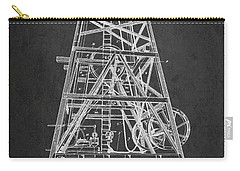 Oil Well Rig Patent From 1893 - Dark Carry-all Pouch by Aged Pixel