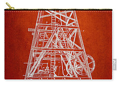 Oil Well Rig Patent From 1893 - Red Carry-all Pouch by Aged Pixel
