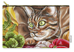 Carry-all Pouch featuring the painting Ok Now What by Hiroko Sakai