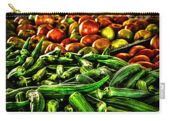 Okra And Tomatoes Carry-all Pouch
