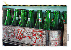 Old 7 Up Bottles Carry-all Pouch by Thomas Woolworth