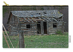 Carry-all Pouch featuring the photograph Old Abandoned Homestead Cabin Art Prints by Valerie Garner