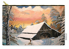 Carry-all Pouch featuring the painting Old Barn Guardian by Sharon Duguay