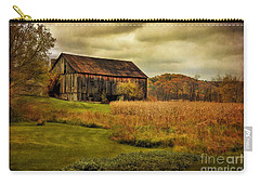 Old Barn In October Carry-all Pouch by Lois Bryan
