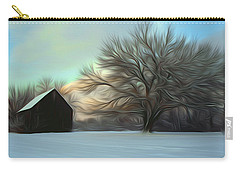 Old Barn In Snow Carry-all Pouch