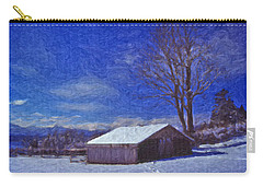 Old Barn In Winter Carry-all Pouch by Richard Farrington