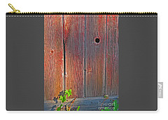 Carry-all Pouch featuring the photograph Old Barn Wood by Ann Horn