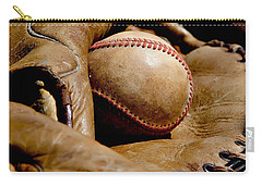 Old Baseball Ball And Gloves Carry-all Pouch