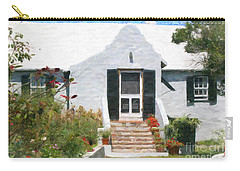 Carry-all Pouch featuring the photograph Old Bermuda Home by Verena Matthew