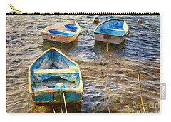 Carry-all Pouch featuring the photograph Old Bermuda Rowboats by Verena Matthew