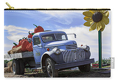 Carry-all Pouch featuring the photograph Old Blue Farm Truck  by Patrice Zinck