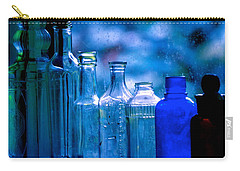 Old Blue Glass Bottles In The Window... Carry-all Pouch