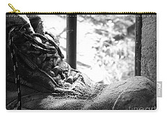 Carry-all Pouch featuring the photograph Old Boots by Clare Bevan