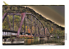 Old Bridge Over Lake Carry-all Pouch by Jonny D