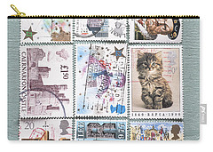 Old British Postage Stamps Carry-all Pouch by Jan Bickerton