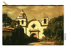 Old Carmel Mission - Watercolor Carry-all Pouch