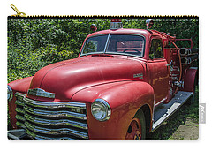 Old Chevy Fire Engine Carry-all Pouch by Susan  McMenamin