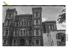 Old City Jail In Black And White Carry-all Pouch