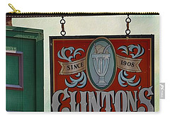 Old Clinton's Soda Fountain Sign Carry-all Pouch
