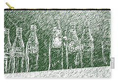 Carry-all Pouch featuring the photograph Old Coke Bottles by Greg Reed