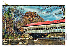 Old Covered Bridge Carry-all Pouch by Kenny Francis
